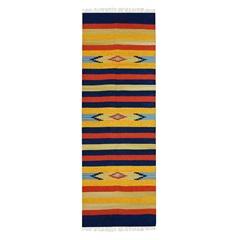 Tapete Indiano em Algodão Kilim Desenho 01 com 200x250cm Colorido - Niazitex