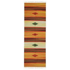 Tapete Indiano em Algodão Kilim Desenho 02 com 140x200cm Colorido - Niazitex