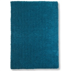 Tapete May Poliéster 150x100cm Azul Petroleo - Casa Etna