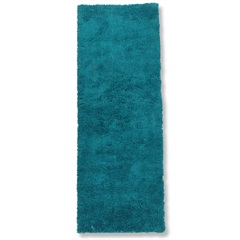 Tapete May Poliéster 160x50cm Azul Petroleo - Casa Etna