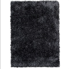 Tapete New Soft Mix Poliéster 150x100 Preto - Casa Etna