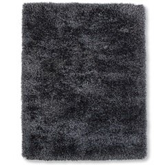 Tapete New Soft Mix Poliéster 200x150cm Preto - Casa Etna