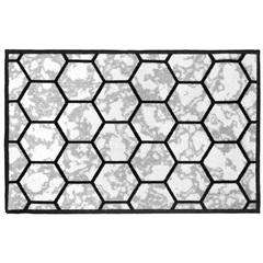 Tapete para Cozinha Mármore Hexagonal 50x75cm Cinza