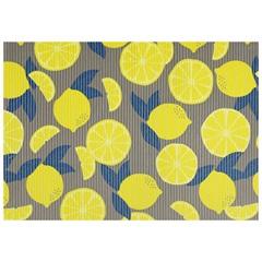Tapete para Cozinha Tropical Limões 43x65cm Cinza - Kapazi