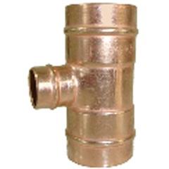 Tê de Redução Central em Cobre com Solda 28x15x28mm - Ramo Conexões