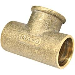Tê de Redução Central em Latão com Solda E Rosca Fêmea 1/2''X22mm - Ramo Conexões