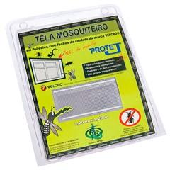 Tela Mosquiteiro com Velcro em Poliéster 1,20x1,20 Metro Branca - Protej