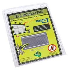 Tela Mosquiteiro com Velcro em Poliéster 1,20x1,20 Metro Cinza - Protej