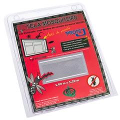 Tela Mosquiteiro com Velcro em Poliéster 1x1,20 Metro Branca - Protej