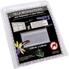 Tela Mosquiteiro em Poliéster Protej com Velcro 100x150cm Branca - VR