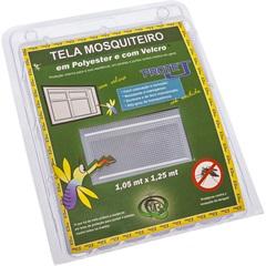 Tela Mosquiteiro em Poliéster Protej com Velcro 105x125cm Branca - VR