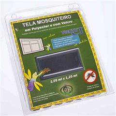 Tela Mosquiteiro em Poliéster Protej com Velcro 125x105cm Cinza - VR