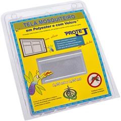 Tela Mosquiteiro em Poliéster Protej com Velcro 125x125cm Branca - VR