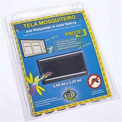 Tela Mosquiteiro em Poliéster Protej com Velcro 125x155cm Cinza - VR