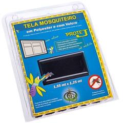 Tela Mosquiteiro em Poliéster Protej com Velcro 125x155cm Preta - VR