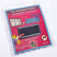 Tela Mosquiteiro em Poliéster Protej com Velcro 125x165cm Cinza - VR