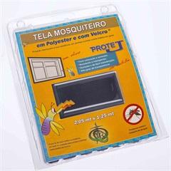 Tela Mosquiteiro em Poliéster Protej com Velcro 125x205cm Cinza - VR