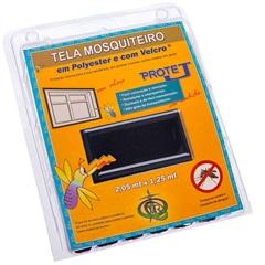 Tela Mosquiteiro em Poliéster Protej com Velcro 125x205cm Preta - VR