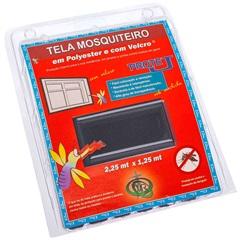Tela Mosquiteiro em Poliéster Protej com Velcro 125x225cm Cinza - VR