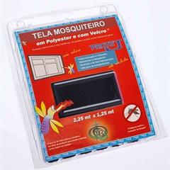 Tela Mosquiteiro em Poliéster Protej com Velcro 125x225cm Preta - VR