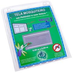 Tela Mosquiteiro em Poliéster Protej com Velcro 60x60cm Cinza - Protej