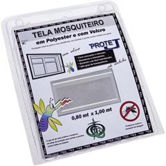 Tela Mosquiteiro em Poliéster Protej com Velcro 80x100cm Branca - VR
