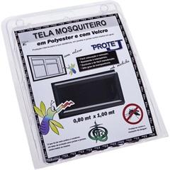 Tela Mosquiteiro em Poliéster Protej com Velcro 80x100cm Preta - VR