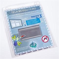 Tela Mosquiteiro em Poliéster Protej com Velcro 80x80cm Cinza - Protej