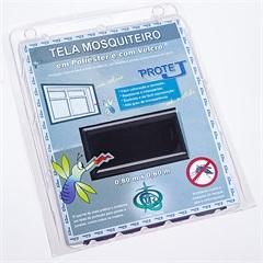 Tela Mosquiteiro em Poliéster Protej com Velcro 80x80cm Preta - Protej