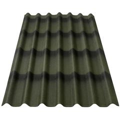 Telha Ecológica Stilo 3d Verde 195x96cm