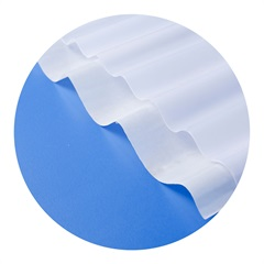 Telha Translúcida em Polipropileno 2,44x50cm Branca - Lux Telhas