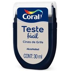 Teste Fácil Cinza de Grife 30ml - Coral