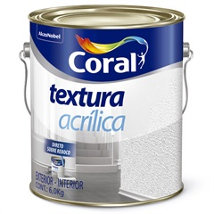 Textura Acrílica Branco 3,6litros - Coral