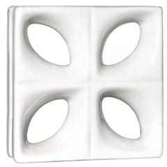 Tijolo Vazado em Cerâmica 25x25cm Branco - Cerâmica Martins