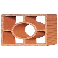 Tijolo Vazado em Cerâmica Cobogó Diagonal Redondo 25x18x7cm - Cerâmica Martins