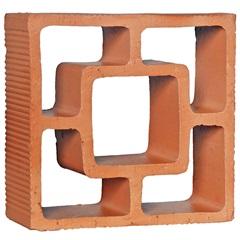 Tijolo Vazado em Cerâmica Cobogó Reto Quadrado 25x18x7cm - Cerâmica Martins