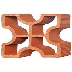 Tijolo Vazado em Cerâmica Diagonal Cruz 25x18x7cm - Cerâmica Martins