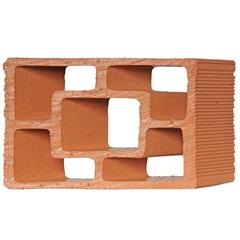 Tijolo Vazado em Cerâmica Diagonal Quadrado 25x18x7cm - Cerâmica Martins