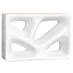 Tijolo Vazado em Louça Cobogó Rama Esmaltado 23x16x8cm Branco