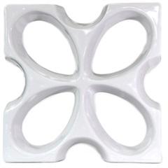 Tijolo Vazado Esmaltado Cobogó Borboleta 30x30x7,5cm Branco - Martins