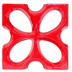 Tijolo Vazado Esmaltado Cobogó Borboleta 30x30x7,5cm Vermelho - Martins
