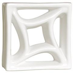 Tijolo Vazado Esmaltado Cobogó Estrela 18,5x18,5x8cm Branco - Martins