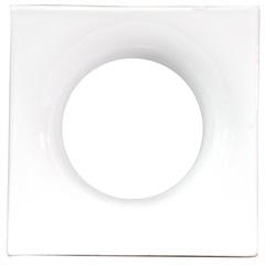 Tijolo Vazado Esmaltado Cobogó Mini Lua 19x19x7,5cm Branco - Martins
