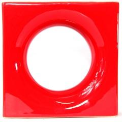 Tijolo Vazado Esmaltado Cobogó Mini Lua 19x19x7,5cm Vermelho - Martins