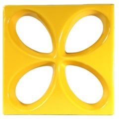 Tijolo Vazado Esmaltado Cobogó Safira 30x30x7,5cm Amarelo - Martins