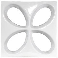 Tijolo Vazado Esmaltado Cobogó Safira 30x30x7,5cm Branco - Martins