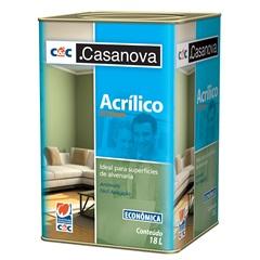 Tinta Acrílica Econômica Fosca Branco 18 Litros - Casanova