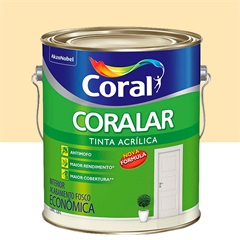 Tinta Acrílica Fosca Coralar Pérola 3,6 Litros - Coral