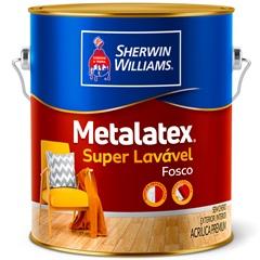 Tinta Acrílica Fosca Premium Metalatex Super Lavável Pérola 3,6 Litros - Sherwin Williams