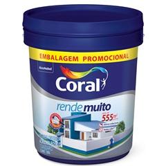 Tinta Acrílica Fosca Standard Rende Muito Branco 20 Litros - Coral
